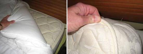 Внимательно осмотрите матрас на наличие черных пятен. Особенно это стоит сделать при заезде в отель.